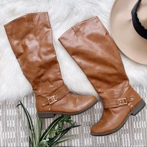 Shoes - Cognac Riding Boots
